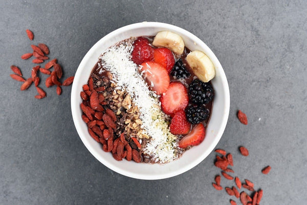 Healthy breakfast smoothie bowl