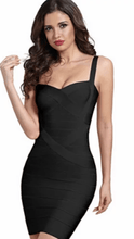 Load image into Gallery viewer, All About Me Bandage Dress Black -  Dollhouse-Collection