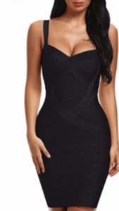 All About Me Bandage Dress Black -  Dollhouse-Collection