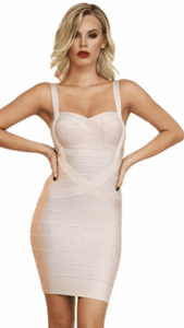 All About Me Bandage Dress Champagne -  Dollhouse-Collection