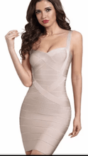 Load image into Gallery viewer, All About Me Bandage Dress Champagne -  Dollhouse-Collection