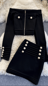 Bridget Bardot coord Black Dollhouse-Collection