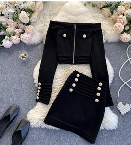 Bridget Bardot coord Black Dollhouse-Collection S