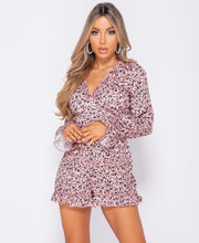 Load image into Gallery viewer, Ditsy Floral Frill Detail Open Back Playsuit -  Dollhouse-Collection