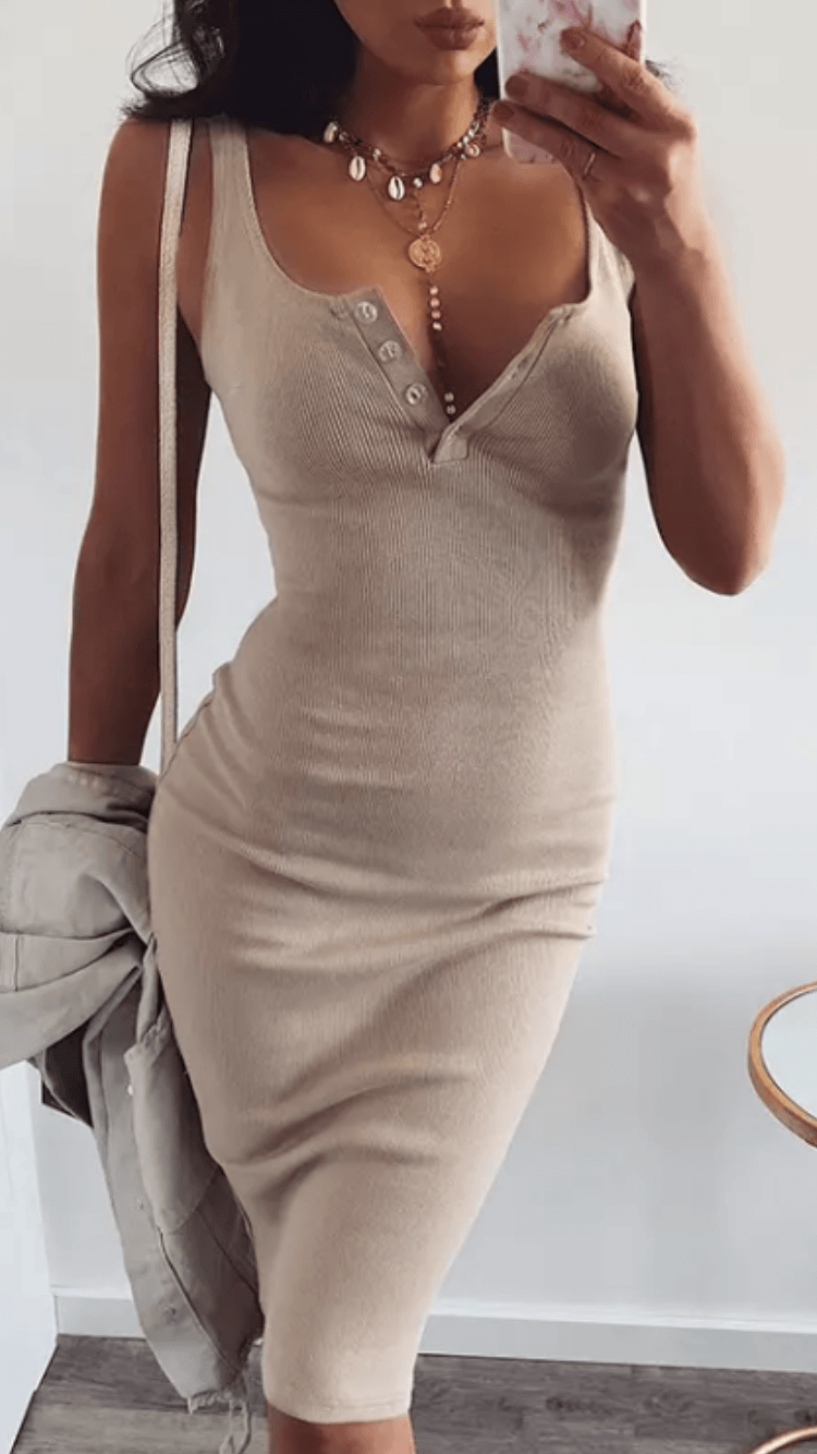 Oh Me Oh My knitted bodycon pencil dress -  Dollhouse-Collection