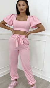 What A Doll Loungewear Pink Coord Dollhouse-Collection