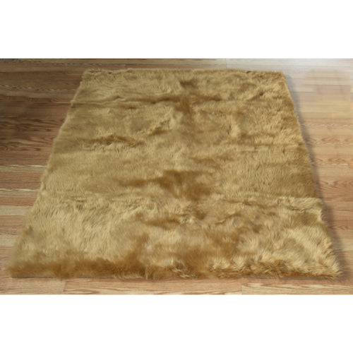 Tan Faux Fur Rug