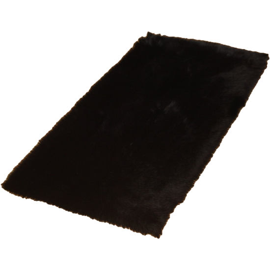 Black Faux Fur Rug