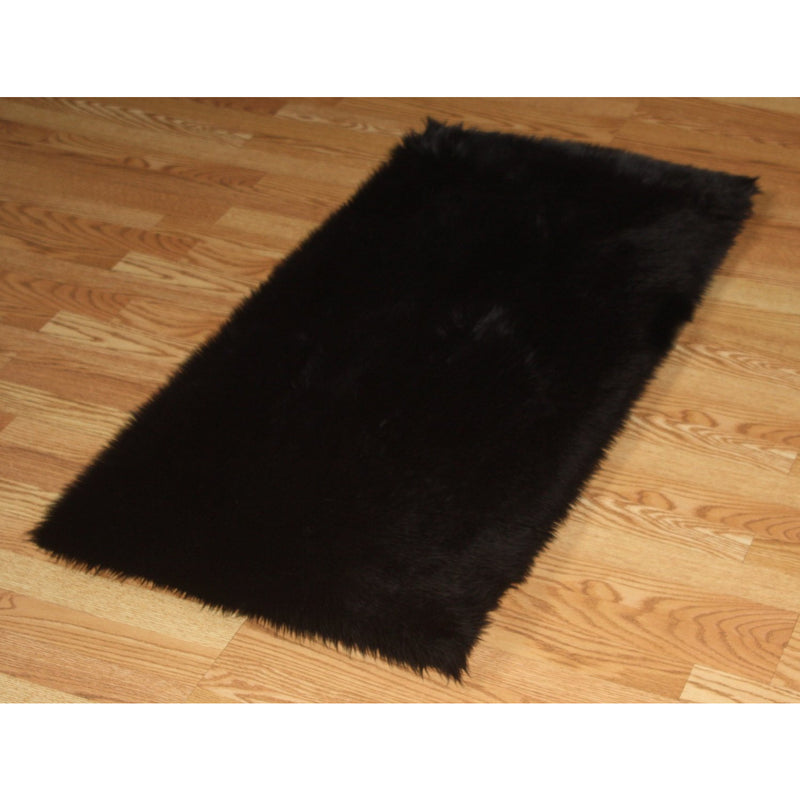 Chocolate Faux Fur Rug