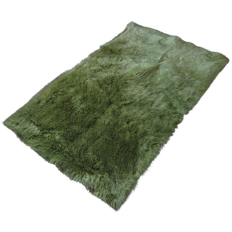 Green Faux Fur Rug