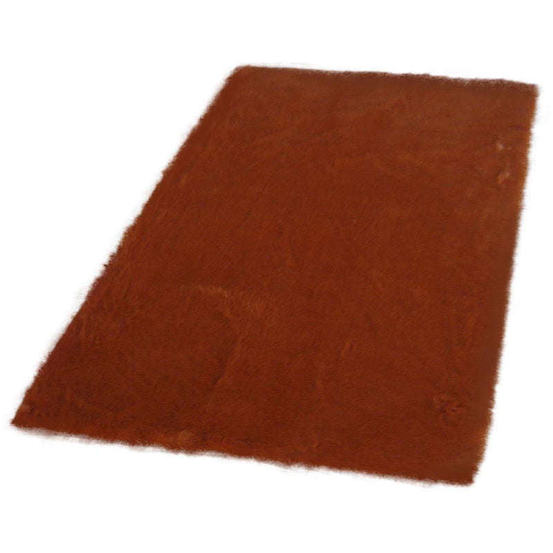 Burnt Orange Faux Fur Rug