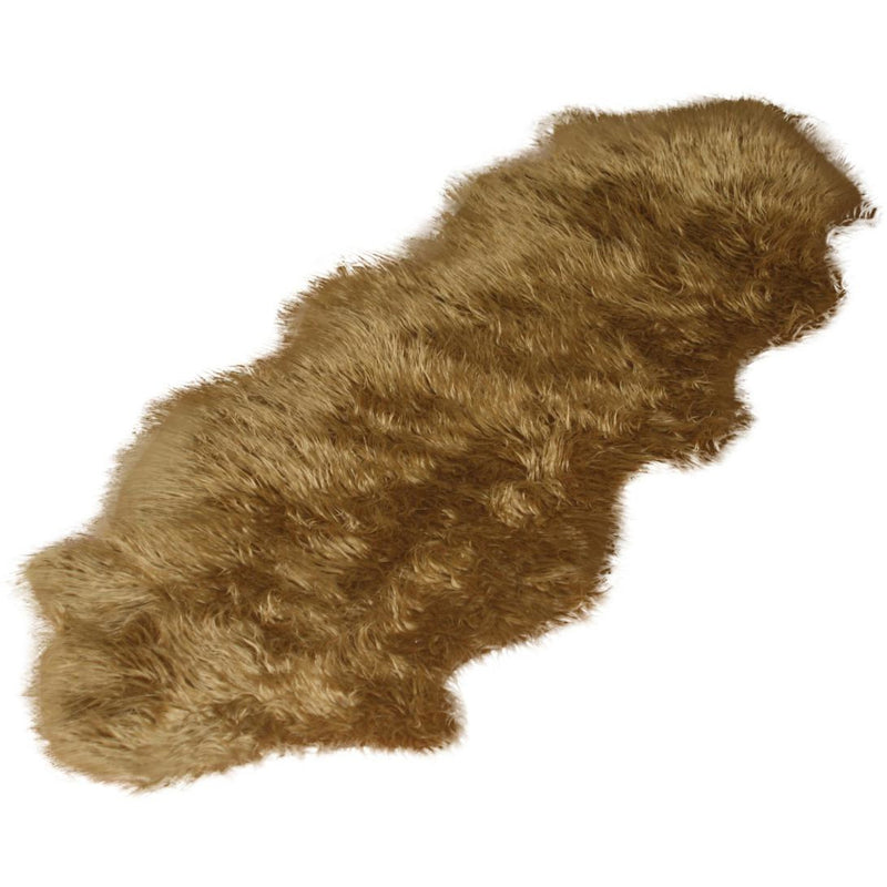 Brown Double Faux Fur Rug