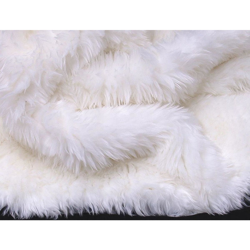 White Double Faux Fur Rug