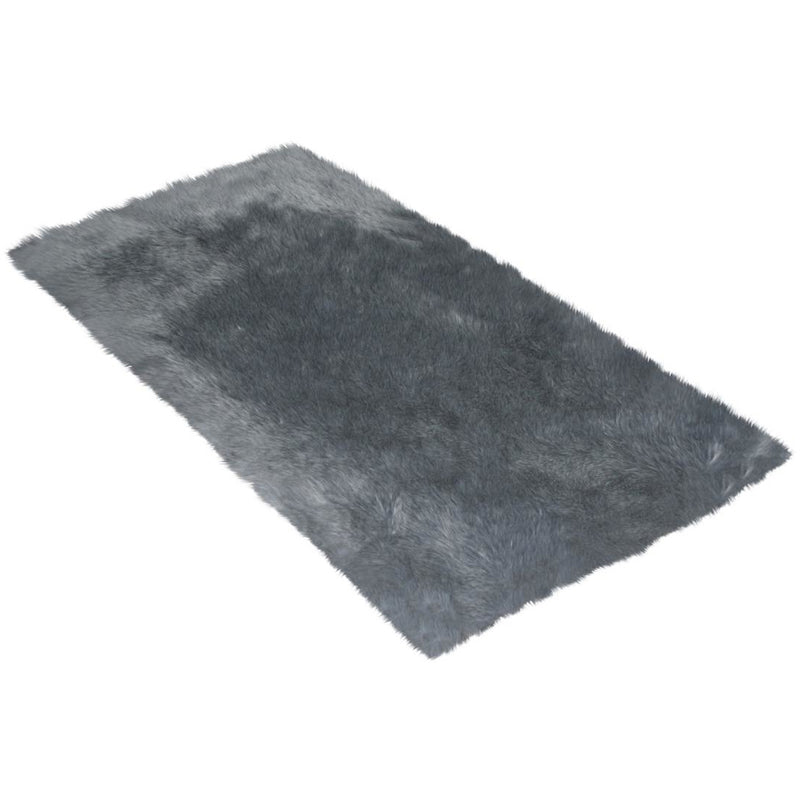 Gray Faux Fur Rug