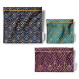 Pack of 3 reusable bags - Art Deco