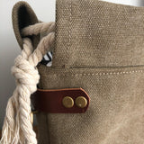 Waxed Canvas Capri Tote Bag - Khaki
