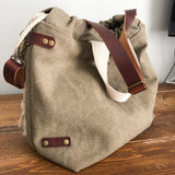 Load image into Gallery viewer, Waxed Canvas Capri Tote Bag - Khaki