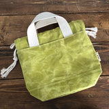 Load image into Gallery viewer, Waxed Canvas Project Bag - Apple Green