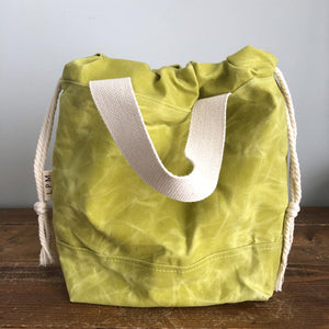 Waxed Canvas Project Bag - Apple Green