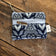 Mini Double Zipper Pouch - Navy Aztec