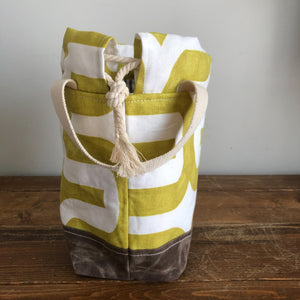 Meraki Project Bag - Lime Crossroads