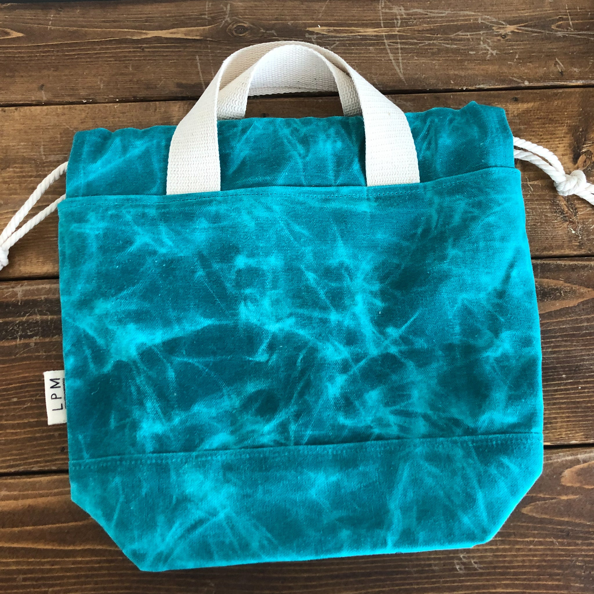 Waxed Canvas Project Bag - Turquoise