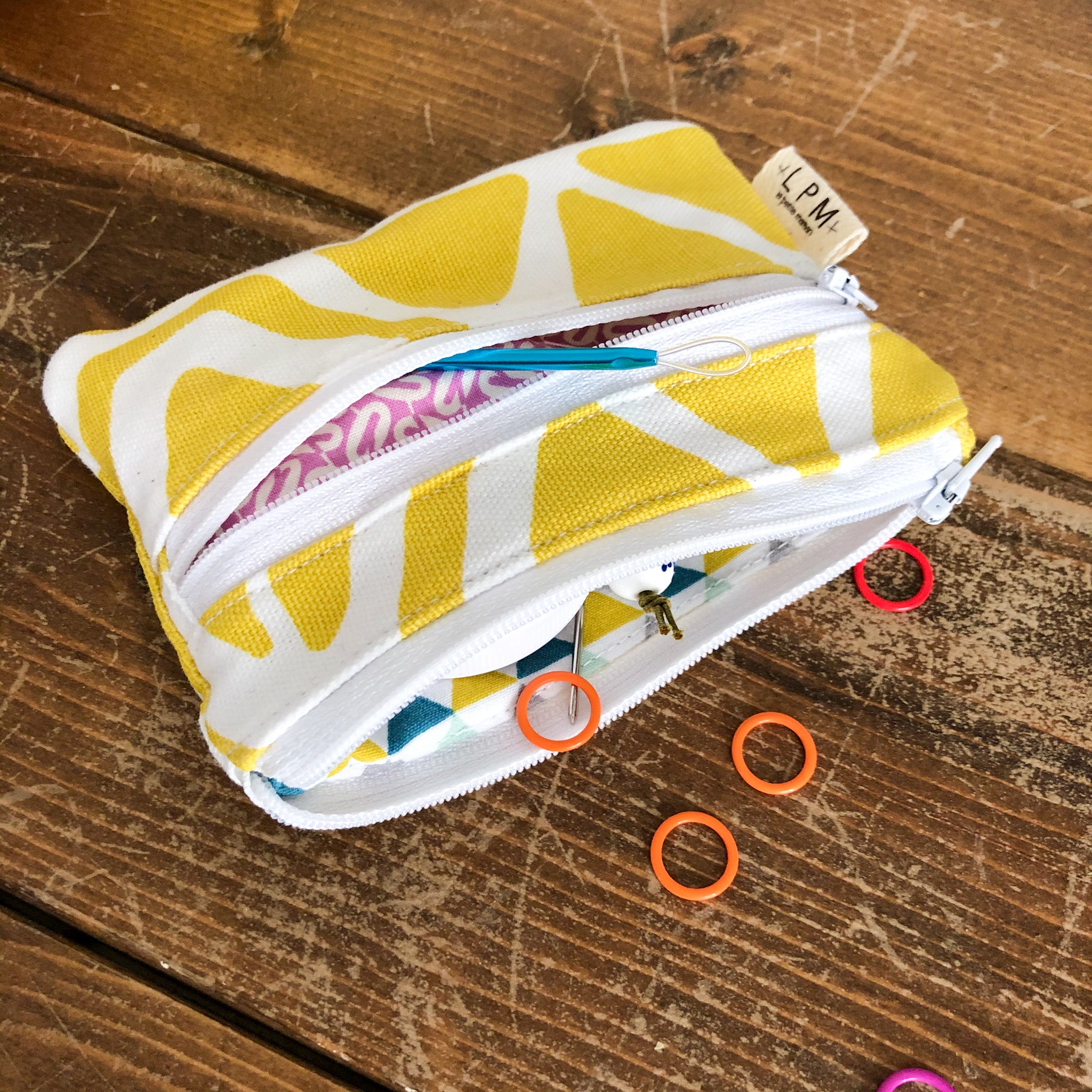Mini Double Zipper Pouch - Lemon