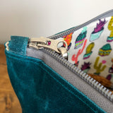 Load image into Gallery viewer, Essential Zipper Pouch - Waxed Canvas Dark Teal