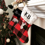 Mini Personalized Stockings | Christmas Stockings Buffalo Plaid Mini Christmas Stocking | Gift Card Stocking | Lumberjack Christmas