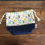 Leah Drawstring Denim Bag - Gardening