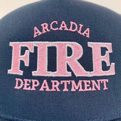 fire department logo embroidered snapback hats