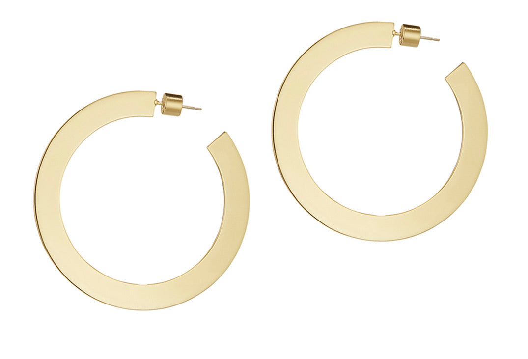 Quinn Hoops- Medium (Silver and Gold Available)