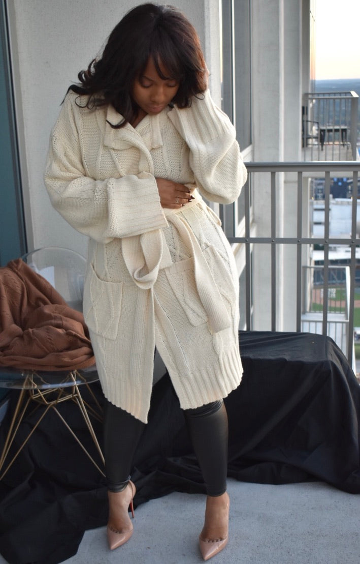 Luxe Body Cardigan- Cream