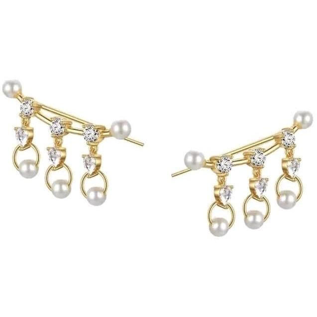 Pearl Sparkle Ear Crawlers