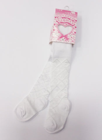 White or Pink Baby Tights