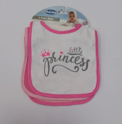 Prince and Princess Three Pack Bibs