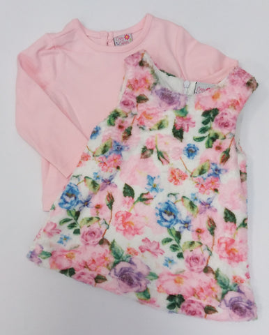 Floral Fleece Pinafore and Top