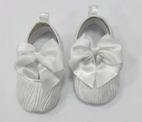 Bow Christening Shoe