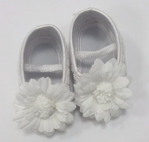 Girls Flower Christening Shoes