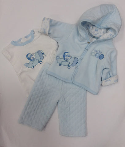 Boys Quilted 3 Piece