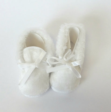 White Furry Shoes