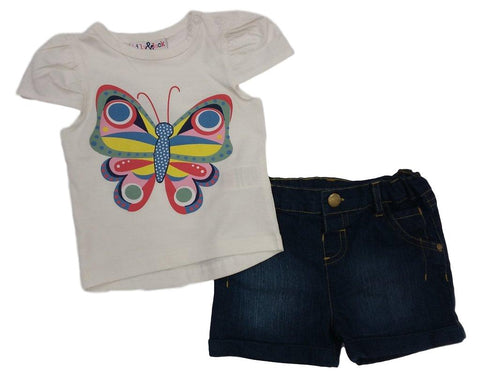 Butterfly Denim Short Set