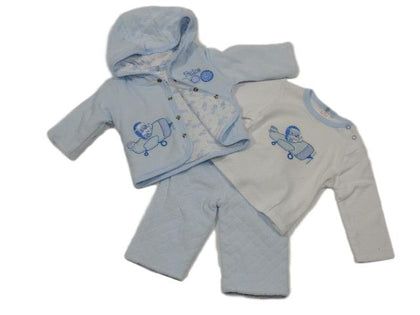 Teddys aeroplane three piece suit