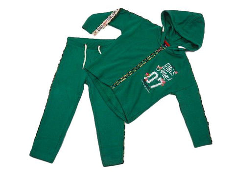 Girls Squad green tracksuit