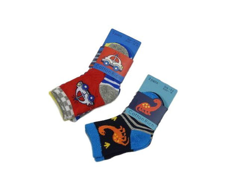 Mixed pattern three pack of socks