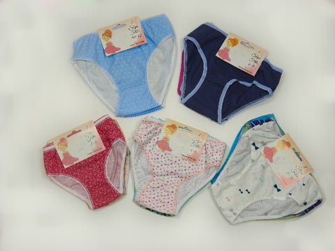 Girls Three Pack Assorted Underwear