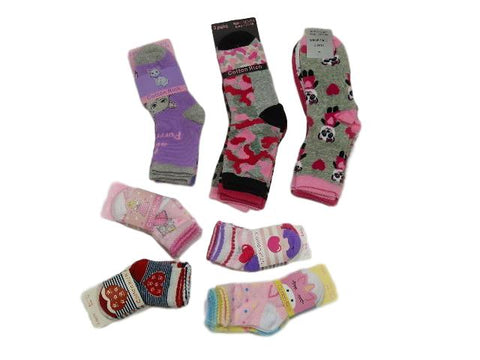 Girls mixed pack socks