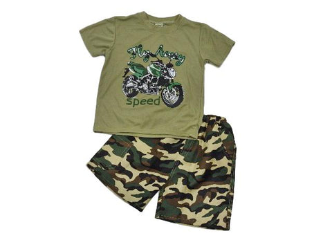 Fly away camo short set