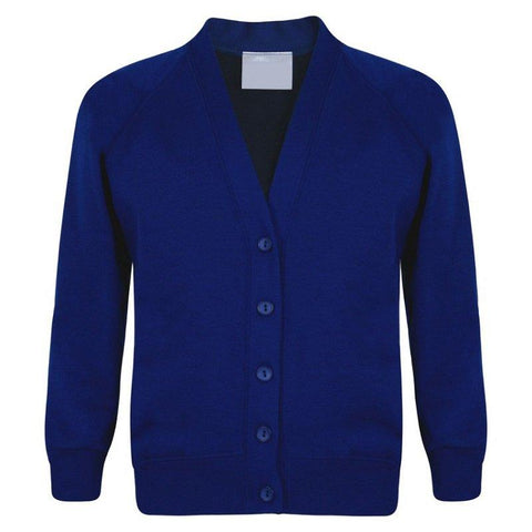 Royal blue wool style cardigan