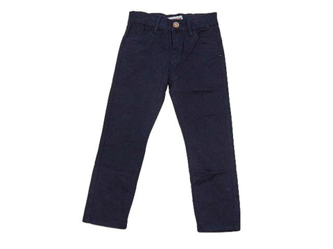 Navy chino style boys trousers